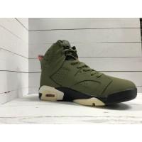 Кроссовки Nike Air Jordan высокие хаки