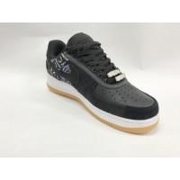 Кроссовки Nike Air Force с рисунком черно-белые