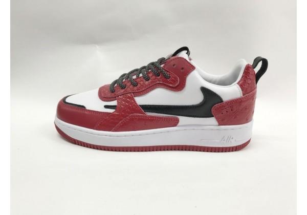 Кроссовки Nike Air Force красно-белые