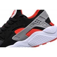 Кроссовки Nike Huarache черные с красным