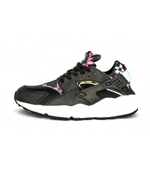 Кроссовки Nike Huarache с принтом черные