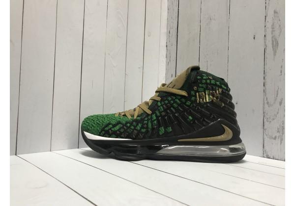 Кроссовки Nike Leborn зеленые с желтым
