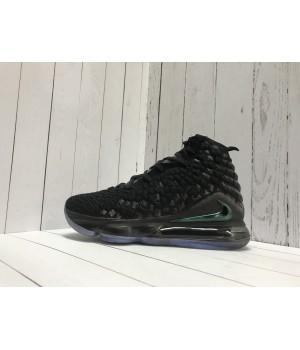 Кроссовки Nike Leborn черные с зеленым