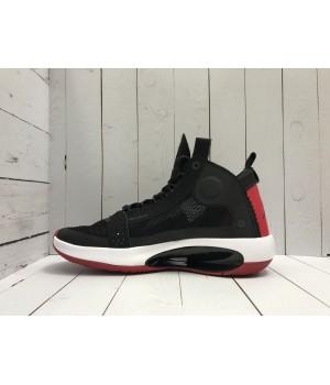 Кроссовки Nike Air Jordan с белой подошвой черные