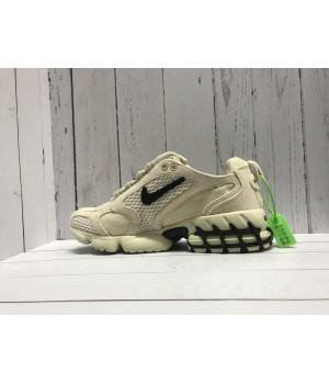 Кроссовки Nike x Stussy бежевые с черным