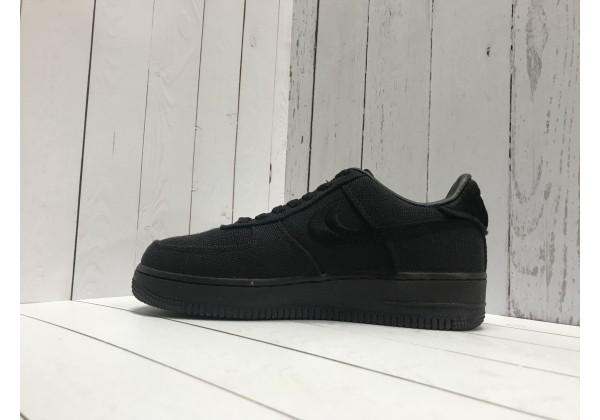Кроссовки Nike Air Force 1 Stussy моно черные