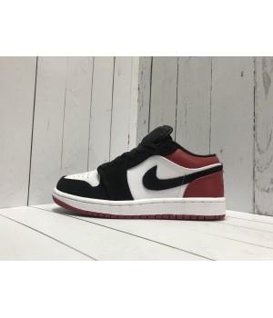 Кроссовки Nike Air Jordan замшевые черные с красным