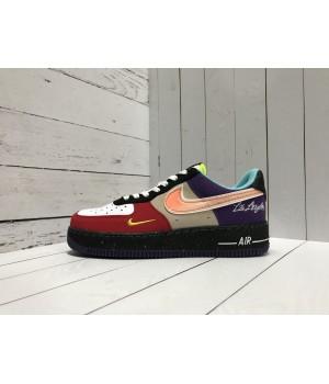 Кроссовки Nike Air Force замшевые мульти