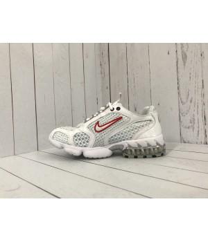 Кроссовки Nike x Stussy белые с красным