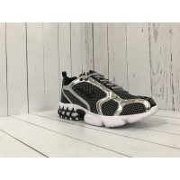 Кроссовки Nike x Stussy черные с серебристым