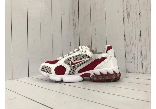 Кроссовки Nike x Stussy красные с белым