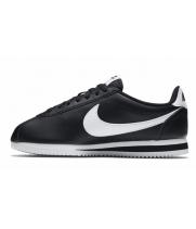Кроссовки Nike Cortez Classic Leather черные с белым