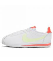 Кроссовки Nike Cortez белые с желтым