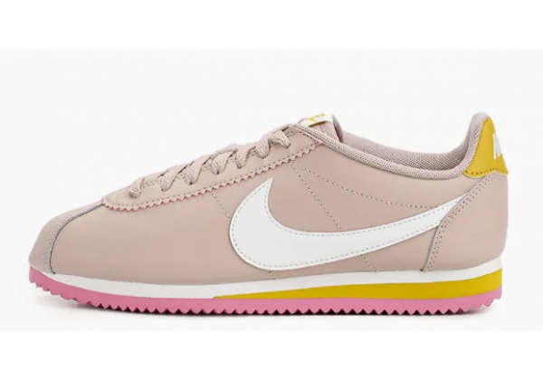 Кроссовки Nike Cortez Nylon бежевые с белым