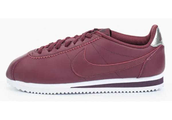 Кроссовки Nike Cortez бордовые