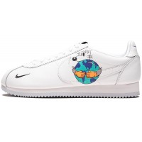 Кроссовки Nike Cortez Flyleather QS с принтом белые