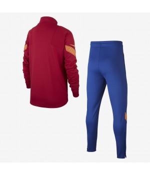 Мужской трикотажный футбольный костюм красный FC Barcelona Strike