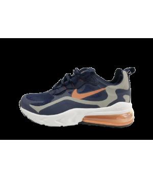 Кроссовки Nike Air Max 270 сине-белые с оранжевым