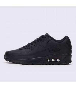 Зимние кроссовки Nike Air Max 90 Black With Fur черные