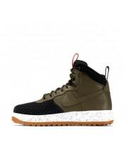 Зимние кроссовки Nike Lunar Force 1 Duckboot Green With Fur зеленые