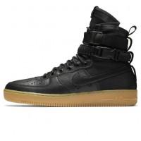 Зимние кроссовки Nike SF AF1 Special Field Air Force 1 Light Brown черные