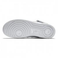 Зимние кроссовки Nike Air Force 1 Mid All White белые