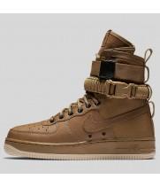 Зимние кроссовки Nike SF AF1 Special Field Air Force 1 Beige коричневые