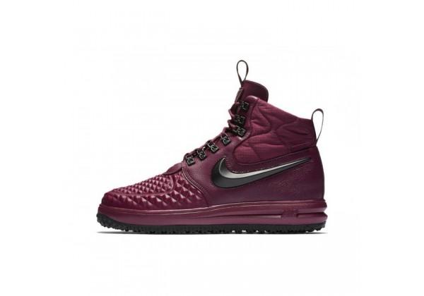 Зимние кроссовки Nike Lunar Force 1 Duckboot '17 Burgundy бордовые