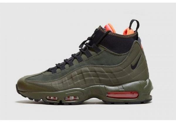 Зимние кроссовки Nike Air Max 95 SneakerBoot Olive зеленые