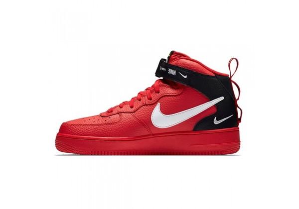 Зимние кроссовки Nike Air Force 1 Mid '07 LV8 Red красные