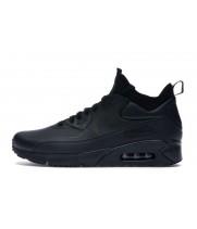Зимние кроссовки Nike Air Max 90 Mid Winter Black черные