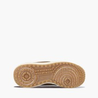 Зимние кроссовки Nike Lunar Force 1 Duckboot Black Wood/White With Fur коричневые