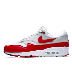 Кроссовки Nike Air Max 90 красные с белым