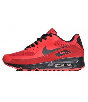 Кроссовки Nike Air Max 90 замшевые красные