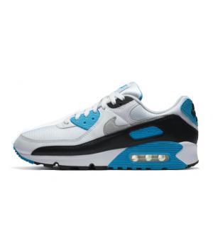 Кроссовки Nike Air Max 90 белые с синим