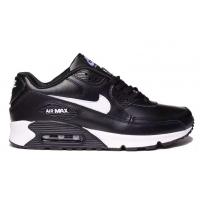 Кроссовки Nike Air Max 90 кожаные черные с белым