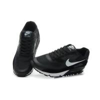 Кроссовки Nike Air Max 90 замшевые черные с белым