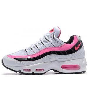 Женские кроссовки Nike Air Max 95 White Pink Black