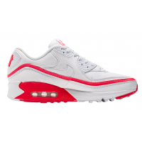Кроссовки Nike Air Max 90 кожаные белые с красным