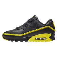 Кроссовки Nike Air Max 90 кожаные черные с желтым