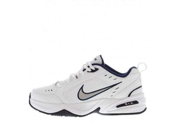 Кроссовки Nike Air Monarch IV White/Blue белые с синим