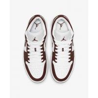 Кроссовки Air Jordan 1 Low коричневые с белым
