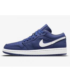Кроссовки Air Jordan 1 Low SE синие с белым