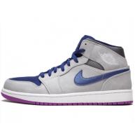 Кроссовки Air Jordan 1 Mid фиолетовые