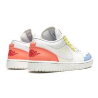 Кроссовки Air Jordan 1 Low белые мульти