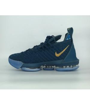 Кроссовки Nike Lebron моно синие