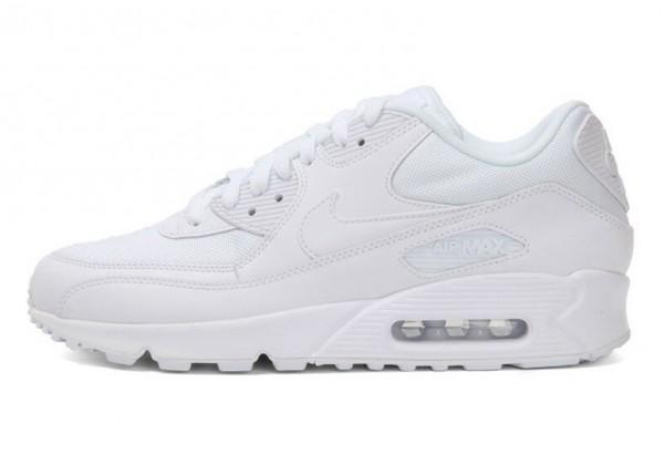 Кроссовки Nike Air Max 90 в сетку белые