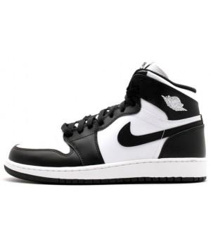 Кроссовки Nike Air Jordan с шнурками черно-белые