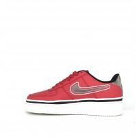 Женские кроссовки Nike Air Force на высокой подошве красные