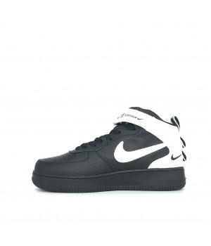 Кроссовки Nike Air Force 1 Mid черные с белым
